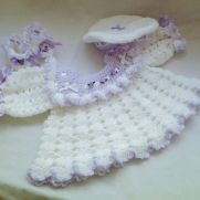 Beautiful angel top cheeky trimmed beret and cute frilled shoes