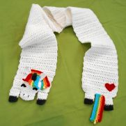 Rainbow Unicorn Scarf