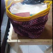 "Purple ""dietforplastic"" bag"