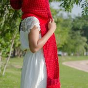 the red ridding hood pocket scarf