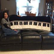 Piano afghan