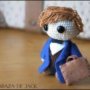 Newt Scamander Amigurumi - Fantastic Beasts - La Calabaza de Jack
