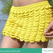 Layered Crochet Skirt