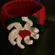 Poinsettia headband