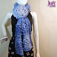 Flower Granny Square Bloom Crochet Scarf