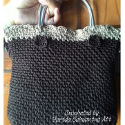 Moss stitch handbag