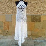 Wedding Dress, Bohemian Clothing, Bridal Crochet Dress, Alternative Wedding Dress