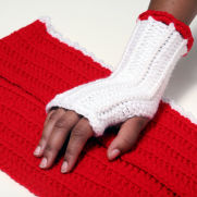 Fall/Winter Crochet Fingerless Womens Gloves