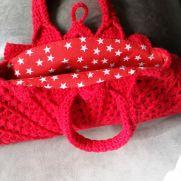 1940's vintage crochet bag