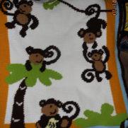 Monkey baby afghan