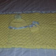 Basket Weave Baby Yellow Set