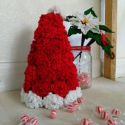 Chrysanthemum Flower Santa Hat plus Chrysanthemum Candy Bowl