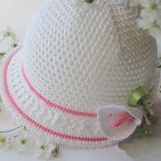 Summer baby hat with flower koala