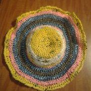 Plarn sun hat