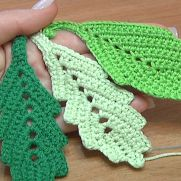 How to Crochet Leaf.Video Tutorial