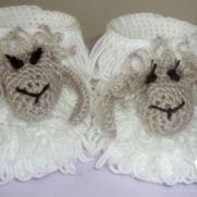Baby booties Lamb