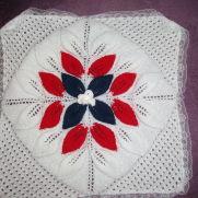 3 row flower baby blanket