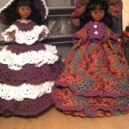 Crochet doll doorstop