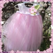 Empire Waist Dogwood Tutu Dress