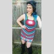 Stripey Siren Boho Dress