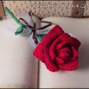 Crochet Rose - La Calabaza de Jack