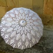 Wedding Umbrella, White Lace Parasol, Crochet Wedding Accessories,  Umbrella Sunshade Parasol