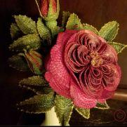 Crochet Red English Juliet Rose