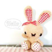 Friendly spring bunny