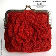 Flower framed purse