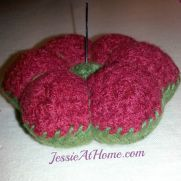 Felted Floral Pincushion