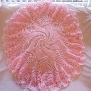 Baby pink Windmill shawl