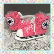 Converse Style High Top Slippers