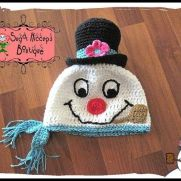 The Frostiest Snowman Crochet Pattern by Heather Macias-Sugar Hiccups Boutique