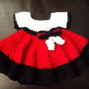 Little black red white dress