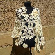 Wedding Shawl, Crochet Wedding Cape, Lace Champagne, Crochet Wedding, Wedding Cover Up, Wedding Wrap