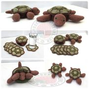 Hideaway Turtle Coaster Sets