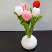 Eco-Friendly Crochet Tulips