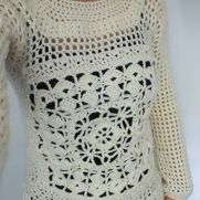 Cream Lacy Jumper