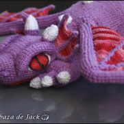 Purple Crochet Dragon - La Calabaza de Jack
