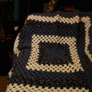 Granny Square Baby Blanket Boy