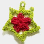 Crochet Christmas Star Ornament