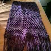 Lavender crocheted shawl