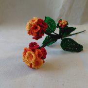 Citrus Blend Lantana Camara Crochet Flower