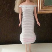 Pink and White Barbie Dress