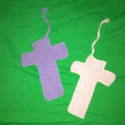 Crochet cotton thread crosses