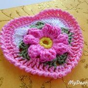 Granny Square Heart - Crochet Tutorial