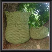 Owl baskets - Mama and Baby