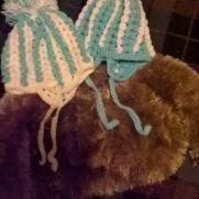 crochet fur coat and hat