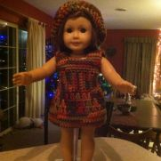 American girl doll clothes and beanie, shoes