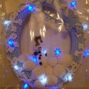 'LIGHT-UP CHRISTMAS DOOR WREATHS